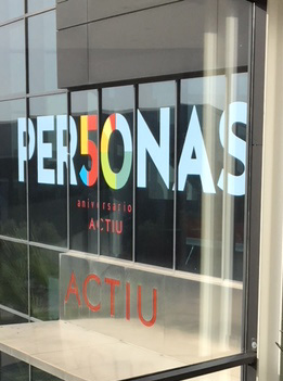 Personas logo in Actui's window
